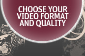 Choose format and quality to have an optimal speed and save bandwidth